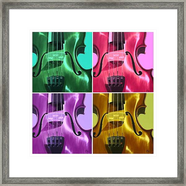 The Colors Of Sound Framed Print