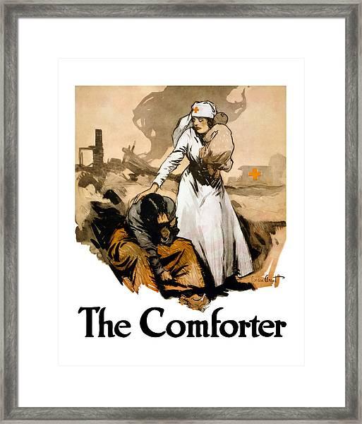 The Comforter - World War One Nurse Framed Print