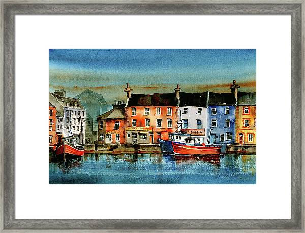 The Commercial Docks, Galway Citie Framed Print