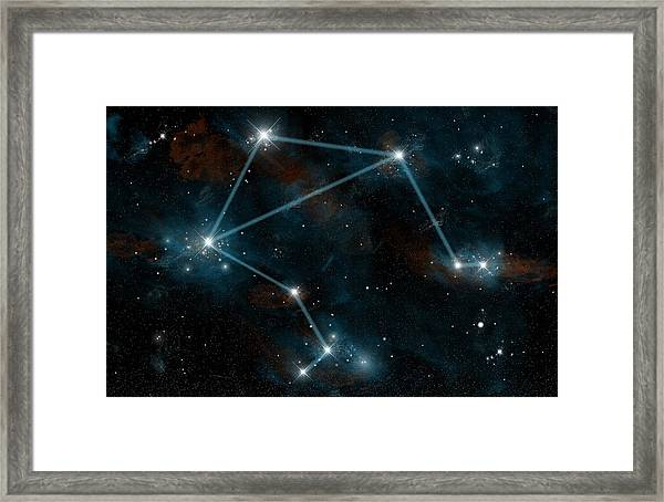 Libra The Scales Framed Print