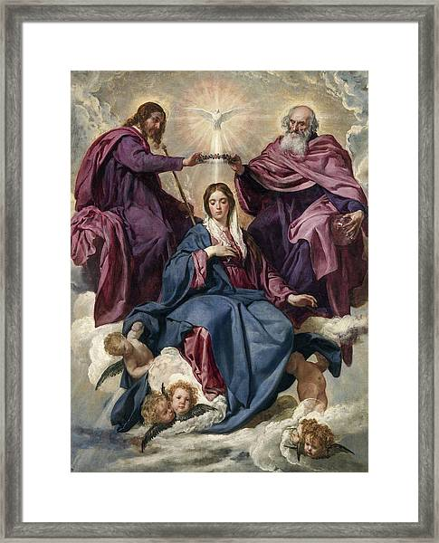 The Coronation Of The Virgin Framed Print