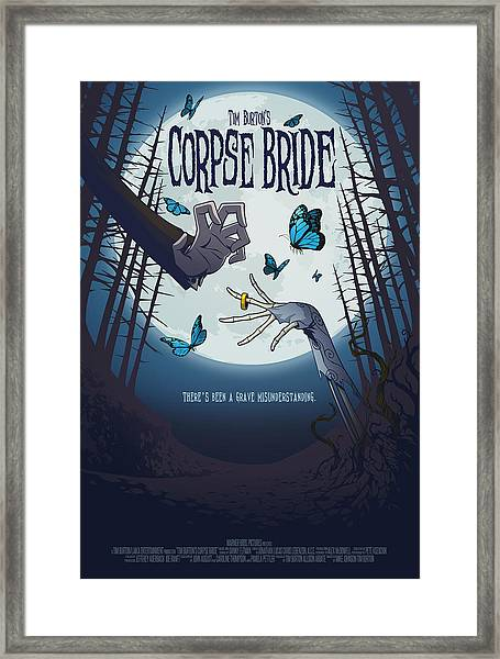 The Corpse Bride Alternative Poster Framed Print