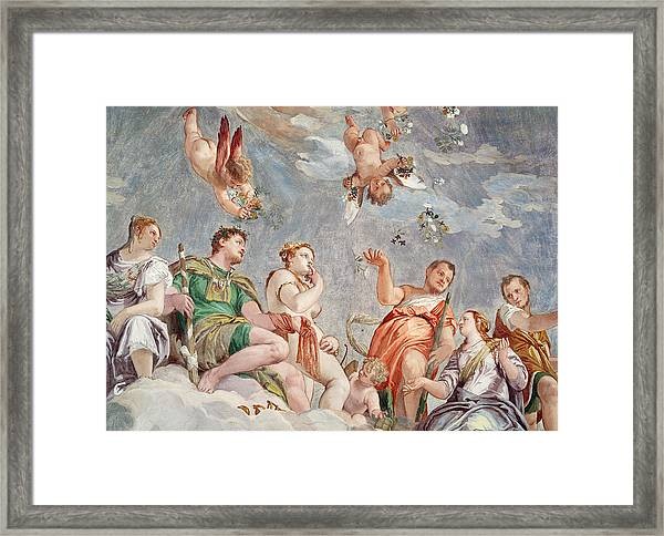 The Court Of Love  Framed Print