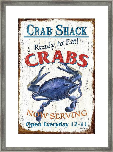 The Crab Shack Framed Print