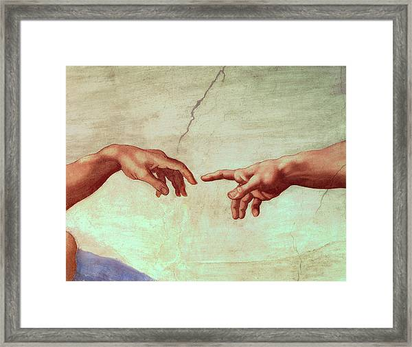 The Creation Of Adam, Detail Framed Print