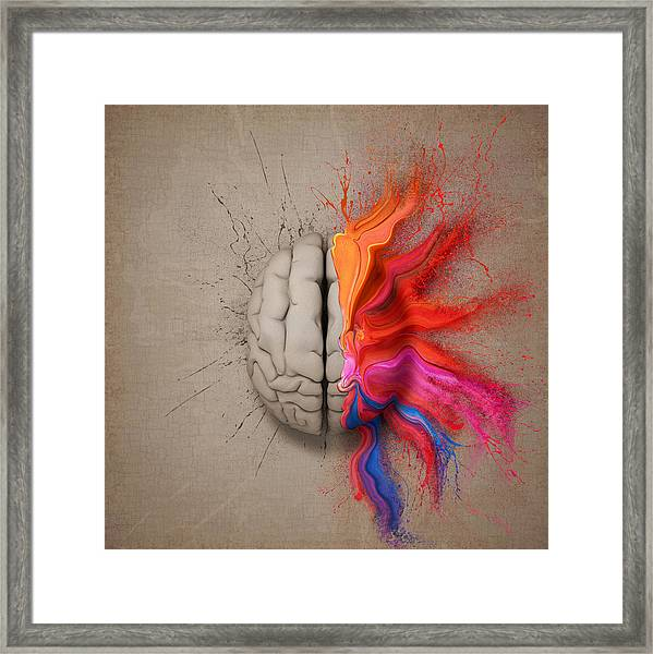 The Creative Brain Framed Print