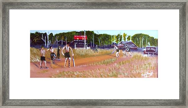 The Cricket Match Framed Print by Neil Trapp