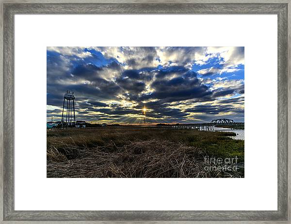 Framed Print featuring the photograph The Cross by DJA Images