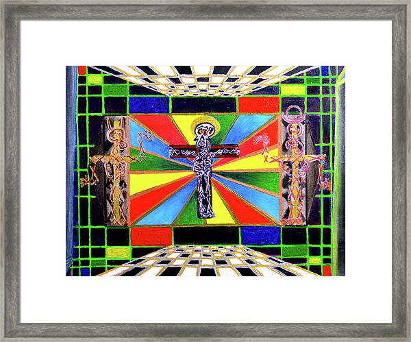 The Crucifffictiooon - Paradisi Gloooria Framed Print