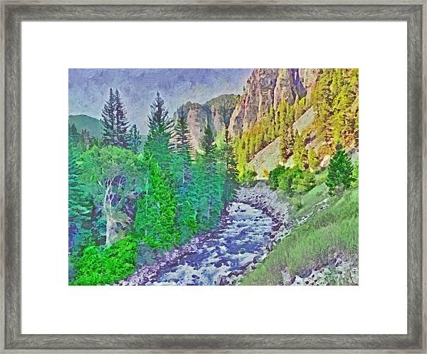 The Crystal River Around Redstone Colorado Framed Print