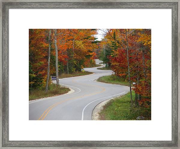 The Curvy Road Framed Print