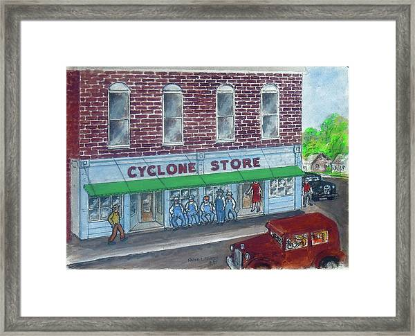 The Cyclone Store 1948 Framed Print