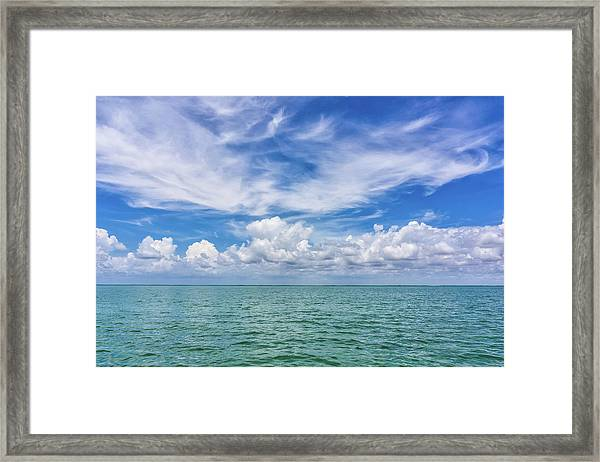 The Dance Of Clouds On The Sea Framed Print