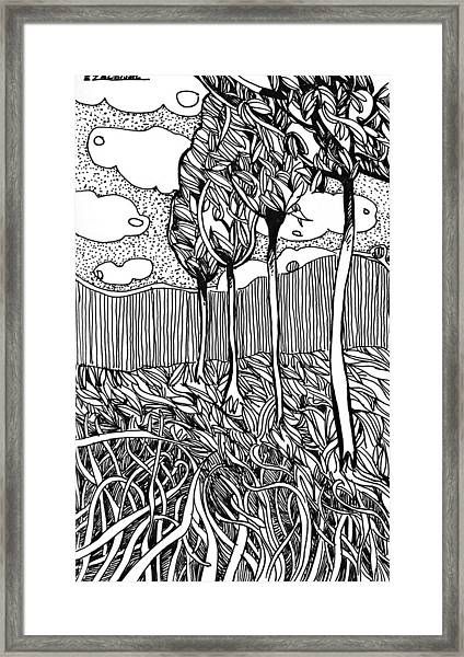 The Dance Of The Wind Framed Print