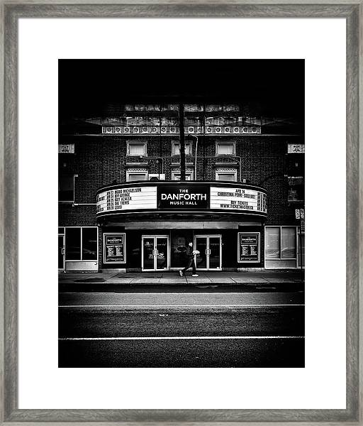 The Danforth Music Hall Toronto Canada No 1 Framed Print