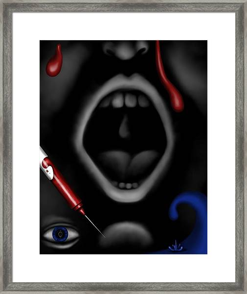 The Dark Place Framed Print