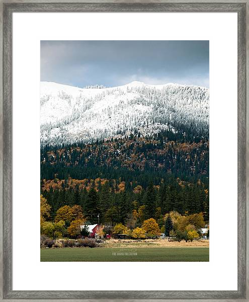 The Dawn Of Winter Framed Print by The Couso Collection