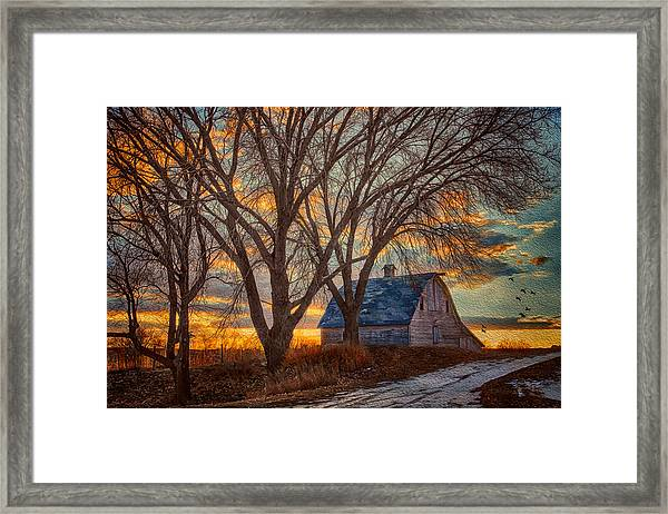 The Day's Last Kiss Framed Print