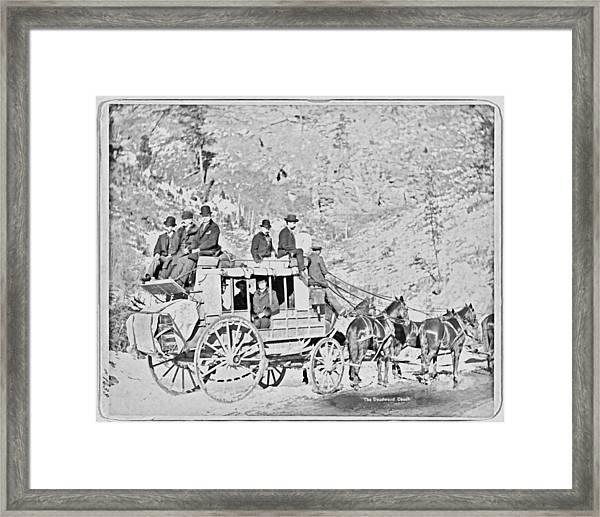 The Deadwood Coach Framed Print