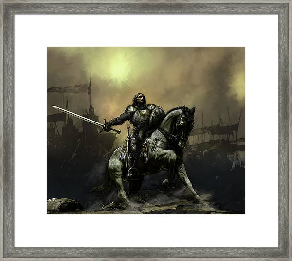 The Defiant Framed Print by David Willicome