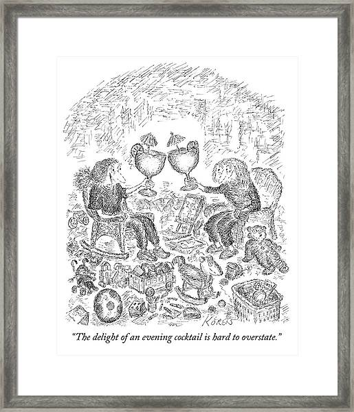 The Delight Of An Evening Cocktail  Framed Print