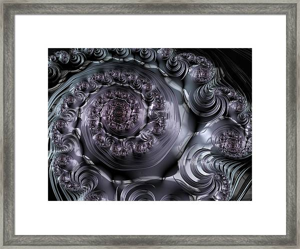 The Depth Of A Spiral Eye Framed Print