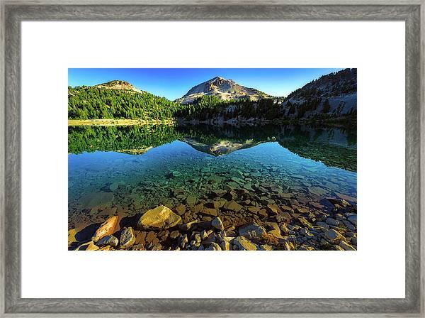 The Depths Of Lake Helen Framed Print