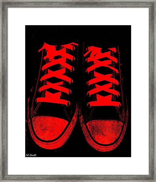 The Devil Wears Converse Framed Print