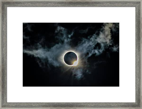 The Diamond Ring 2017 Framed Print
