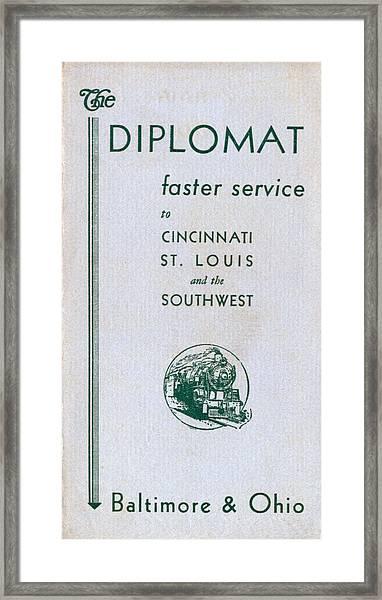 The Diplomat Framed Print
