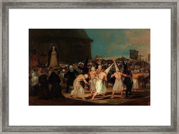 A Procession Of Flagellants Framed Print