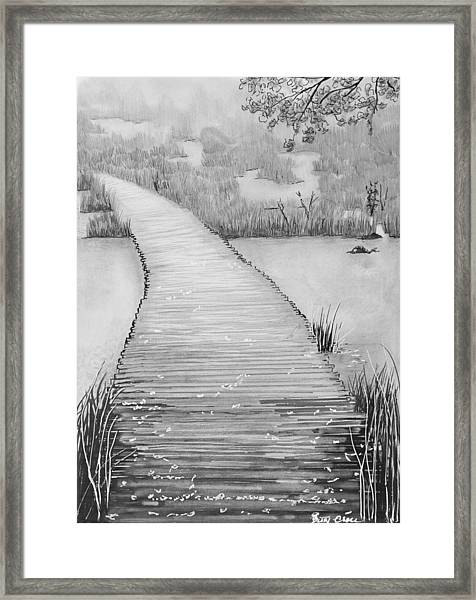 The Divine Path Framed Print