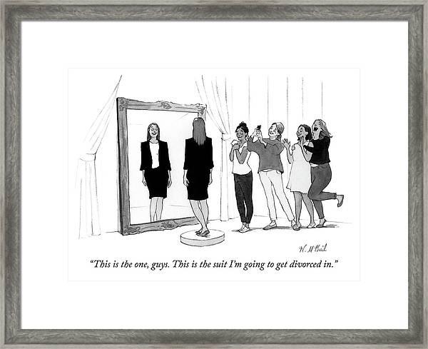 The Divorce Suit Framed Print