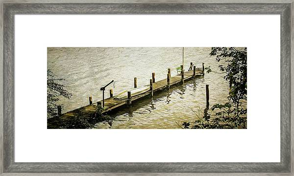 The Dock Framed Print