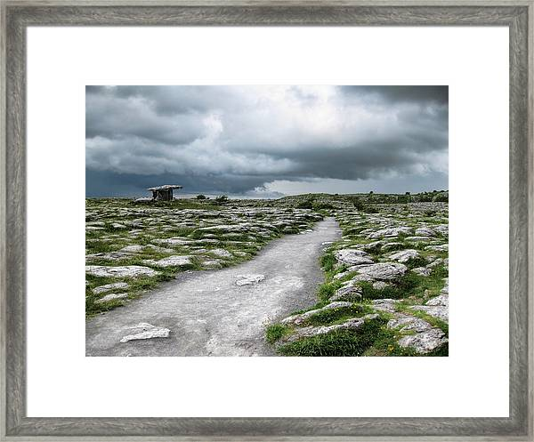 The Dolmen In The Burren Framed Print