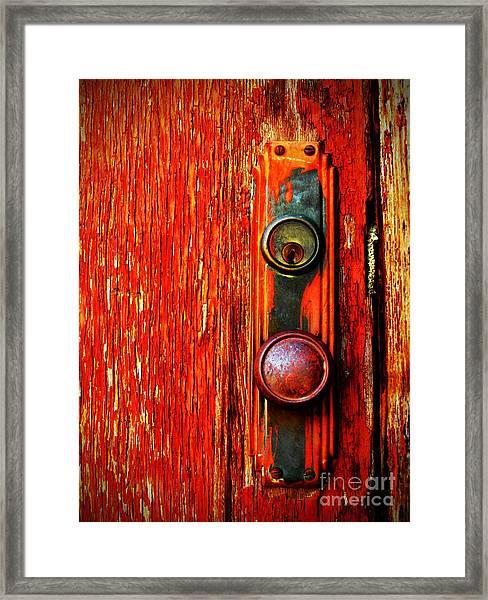 The Door Handle  Framed Print