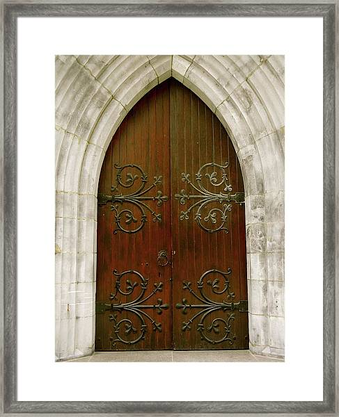 The Door Of Opportunity Framed Print