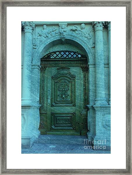 The Door To The Secret Framed Print