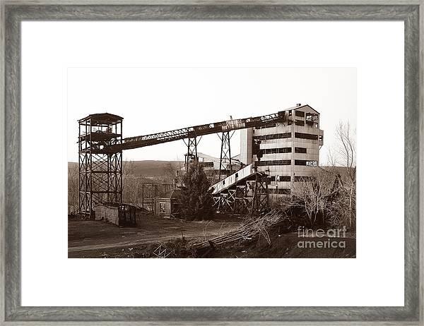 The Dorrance Coal Breaker Wilkes Barre Pennsylvania 1983 Framed Print