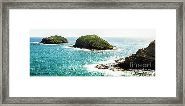 The Doughboys Island Landscape Framed Print