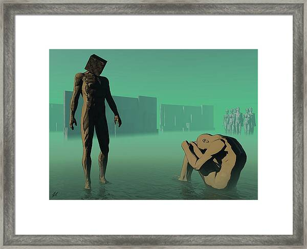The Dream Of Shame Framed Print