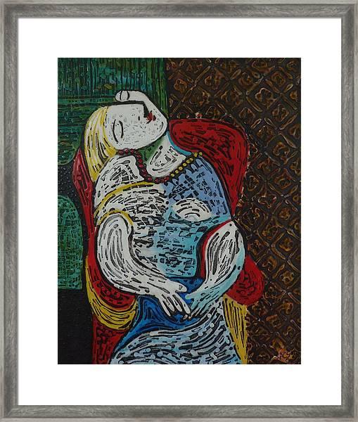 The Dream Walker -le Reve Zombi  Framed Print