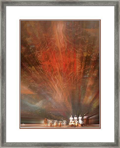 The Drumbeat Rising Framed Print