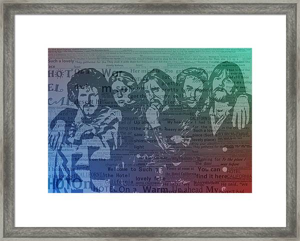 The Eagles Hotel California Framed Print