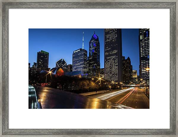 The East Side Skyline Of Chicago  Framed Print