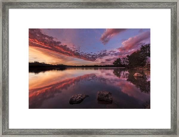 The Edge Of Sunrise Framed Print