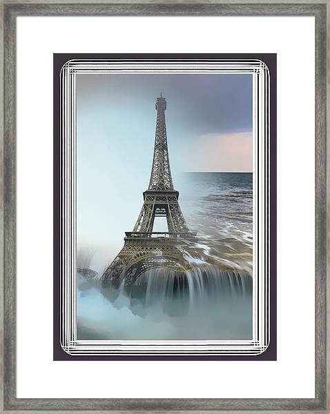 The Eiffel Tower In Montage Framed Print