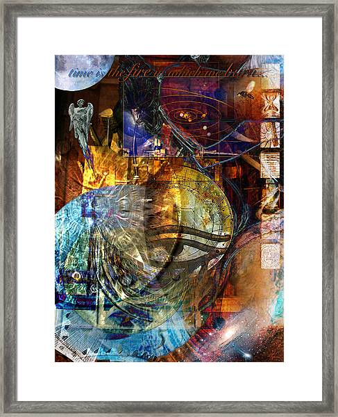 The Embers Of Memory Framed Print