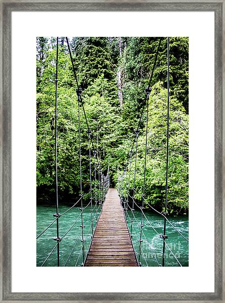 The Emerald Crossing Framed Print