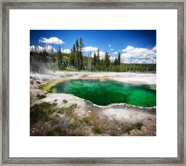 The Emerald Eye Framed Print